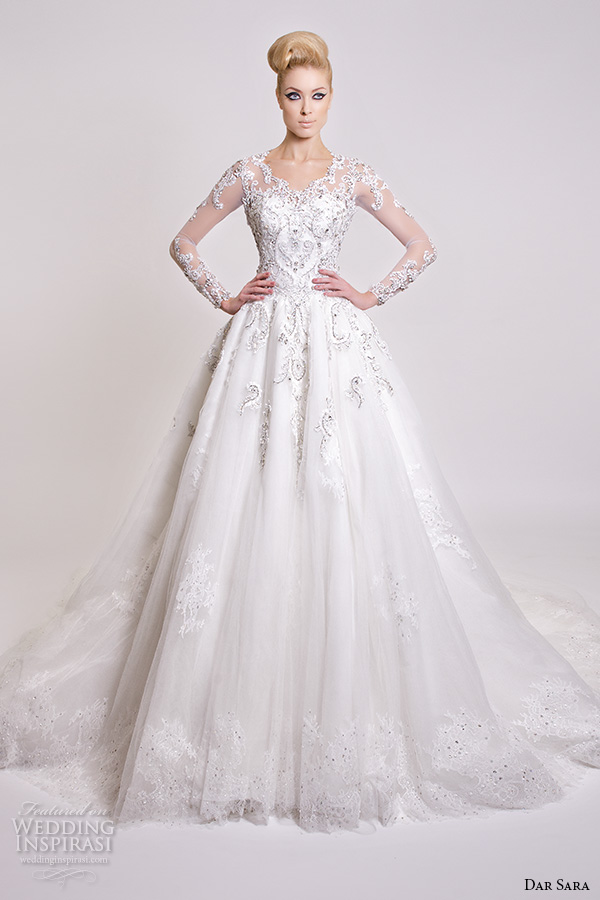 Beautiful Wedding Dresses With Sleeves 53 Stunning dar sara bridal wedding