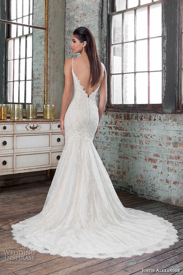 Low Back Wedding Dress Fit And Flare : Justin alexander signature spring wedding dresses