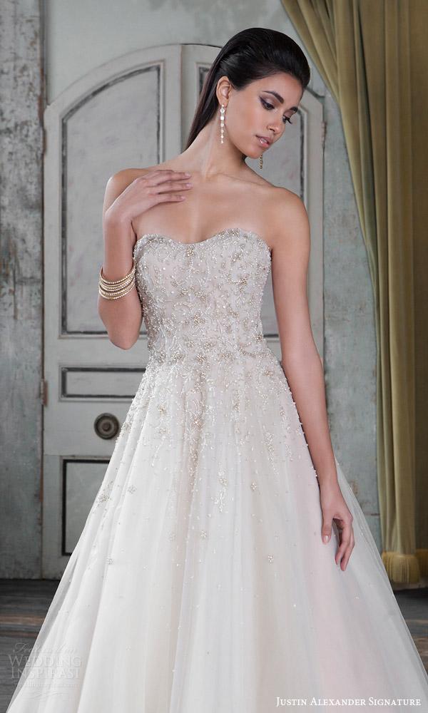 Justin alexander signature spring 2016 wedding dresses for Fully beaded wedding dresses