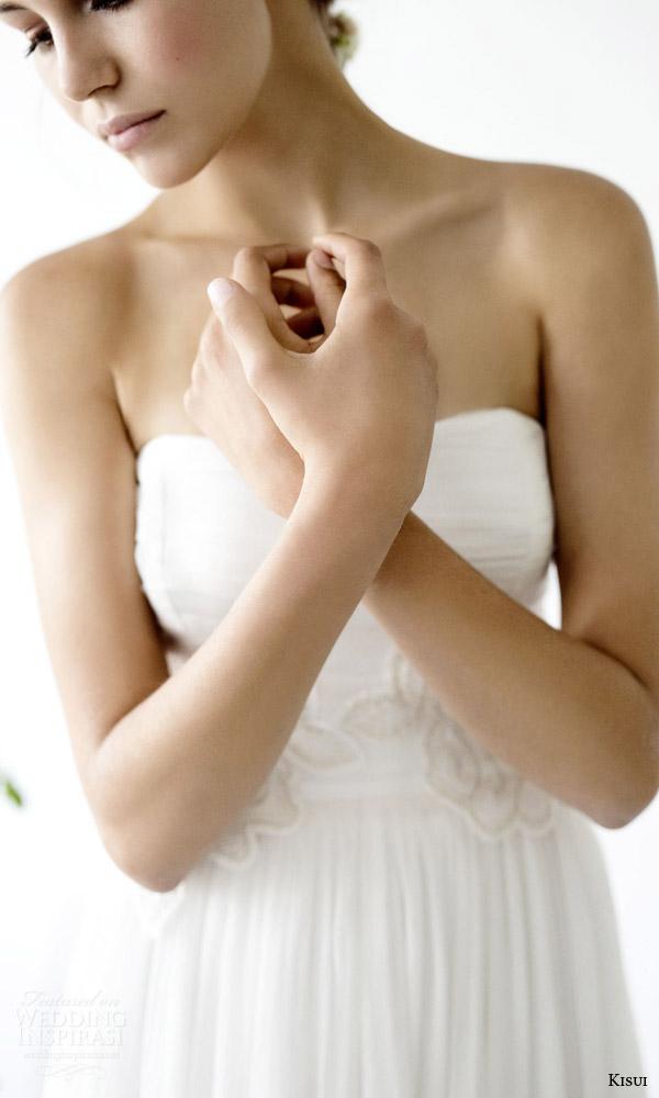 kisui 2016 oui bridal collection ana strapless wedding dress