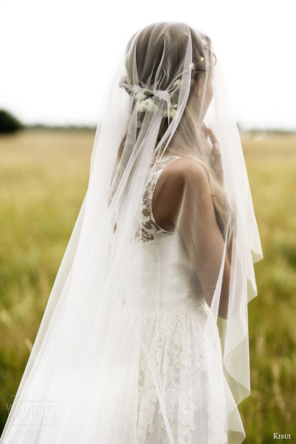 kisui 2016 oui bridal collection camille illusion cap sleeve wedding dress close up back lace