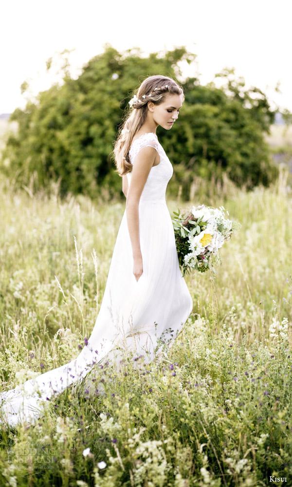 kisui 2016 oui bridal collection camille illusion cap sleeve wedding dress