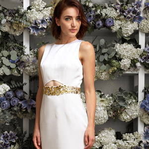 lakum collection kleinfeld bridal exclusive wedding dress gold belt 300