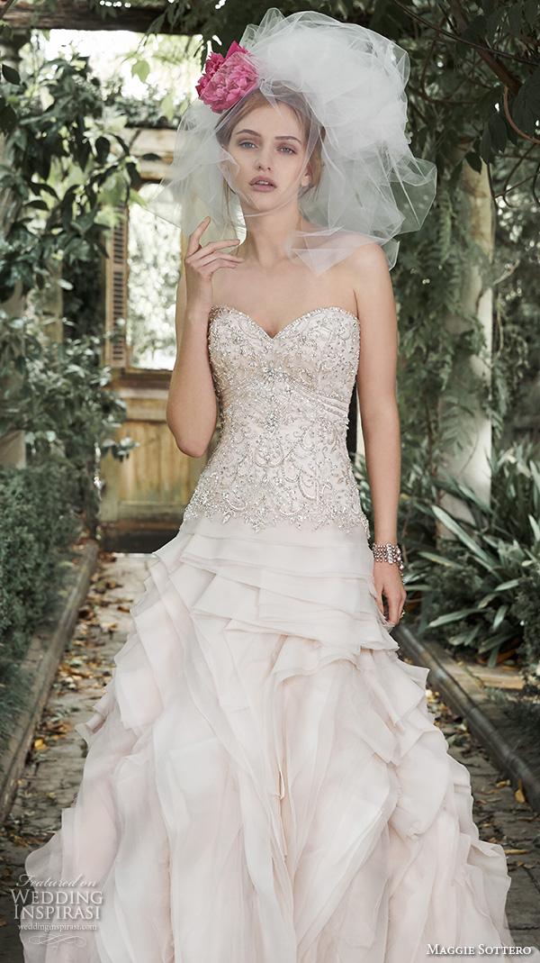 Maggie Sottero Blush Wedding Dress 11 Lovely maggie sottero fall wedding