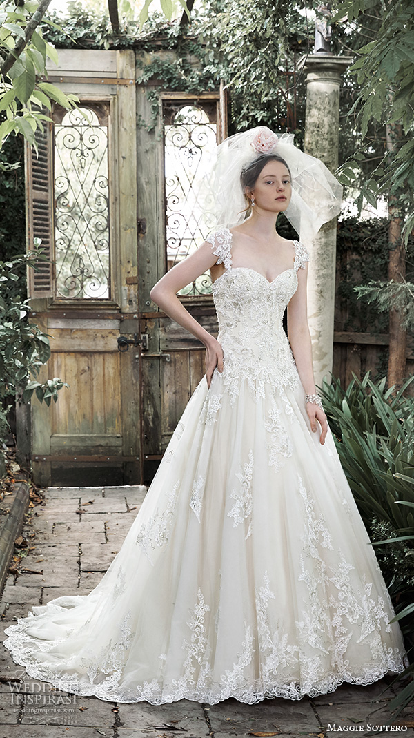 Maggie sottero fall 2015 wedding dresses wedding inspirasi for Pretty ball gown wedding dresses