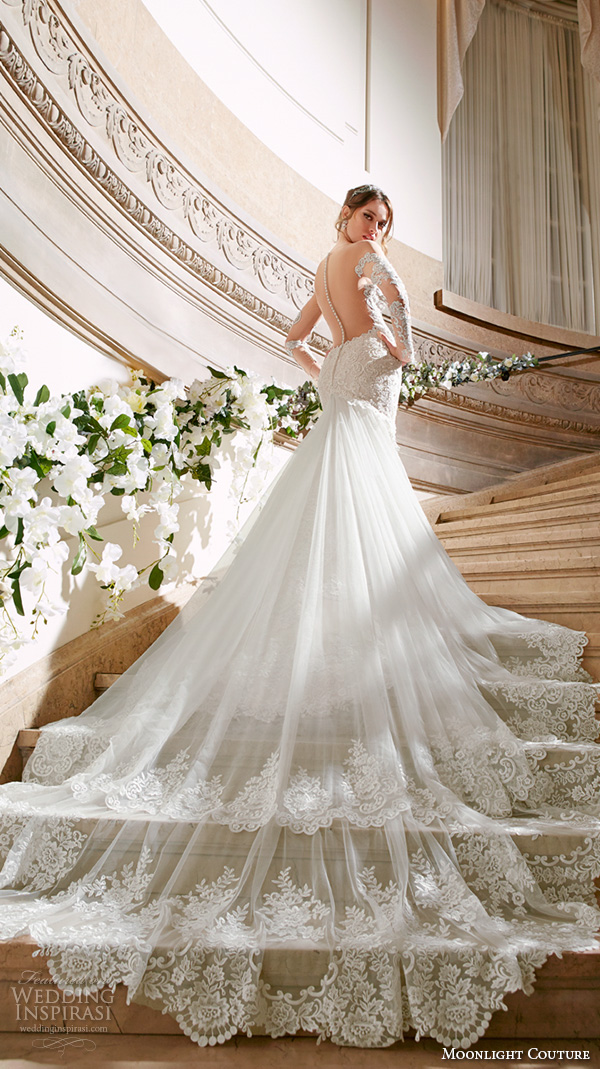 Top 100 Most Popular Wedding Dresses In 2015 Part 2 Sheath Fit Flare Trumpet Mermaid Column Bridal Gown Silhouettes Wedding Inspirasi