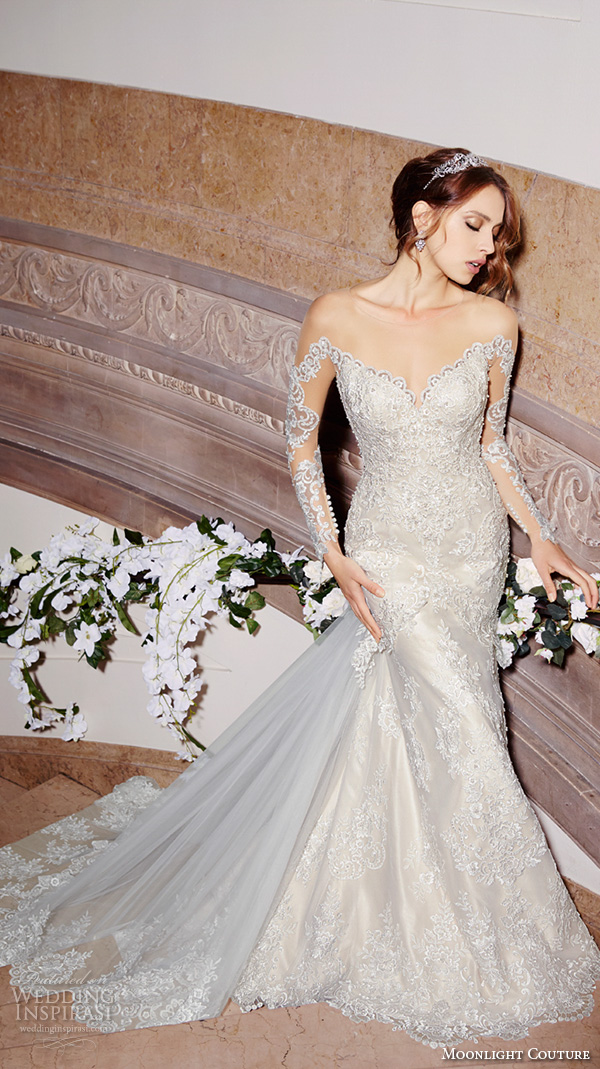 Off The Shoulder Sleeve Wedding Dress 66 Simple moonlight couture spring wedding