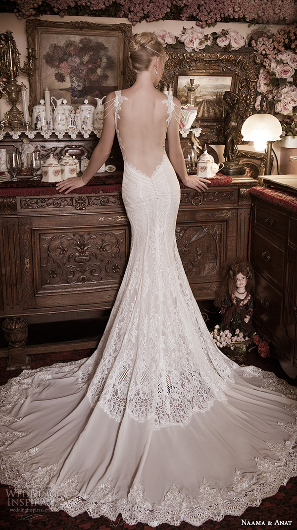 naama anat fall 2016 bridal dresses beautiful mermaid wedding dress trumpet lace strap sweetheart neckline lace beaded gown low back style nobility