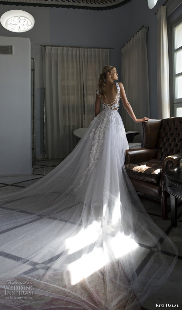 riki dalal 2015 valencia wedding dresses lace embroidered straps v neckline flora embroidered lace bodice beautiful a line gown gorgeous chapel sheer train