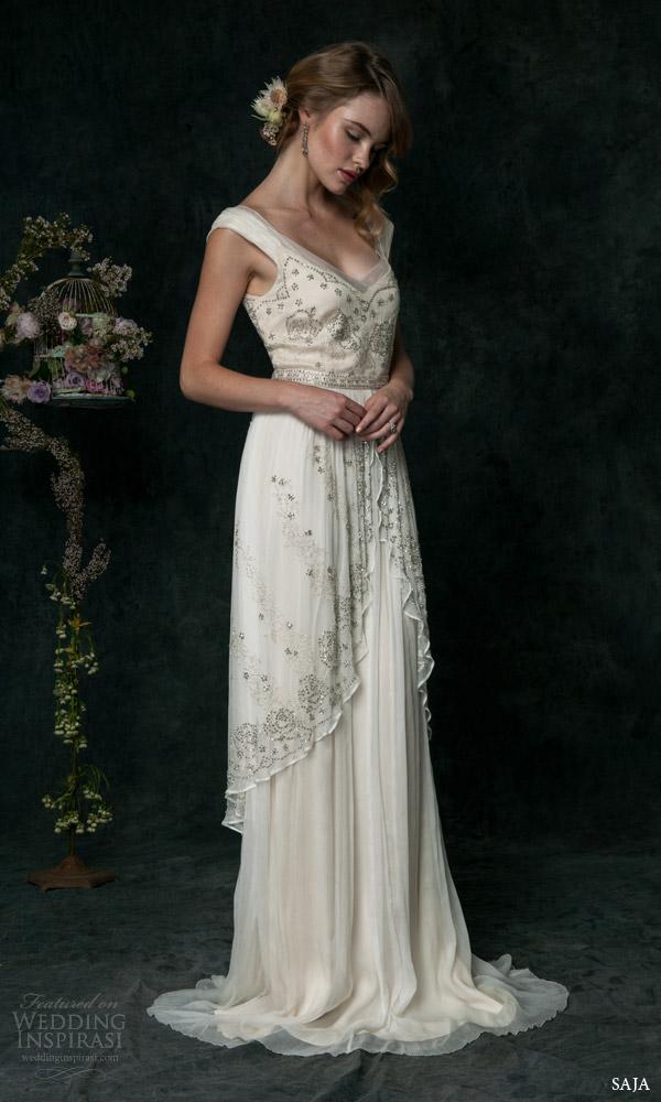 Saja 2016 wedding dresses wedding inspirasi for Wedding dress with overskirt