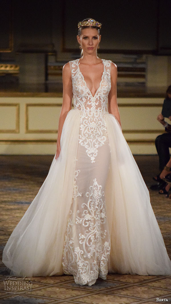 Wedding Dress Gemach New York : Berta fall new york bridal fashion week beautiful wedding dress v