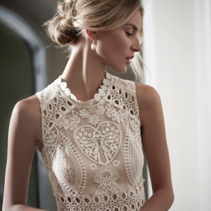bhldn spring 2016 bridal collection roanne high neck lace wedding dress 400