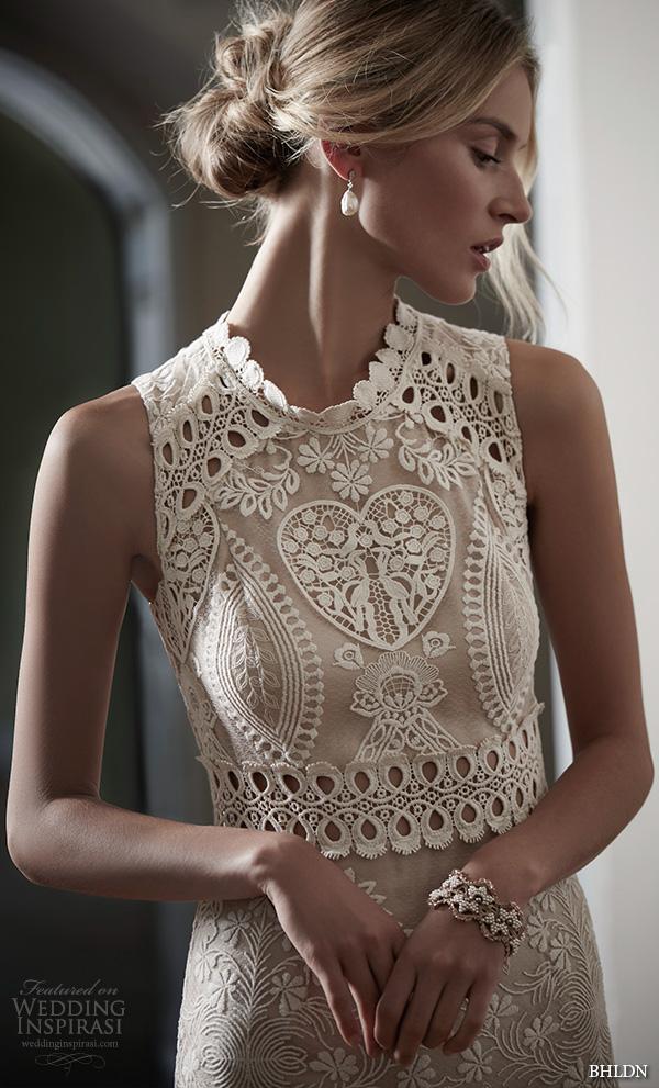 Bhldn spring 2016 bridal collection wedding inspirasi for Jewel neckline wedding dress
