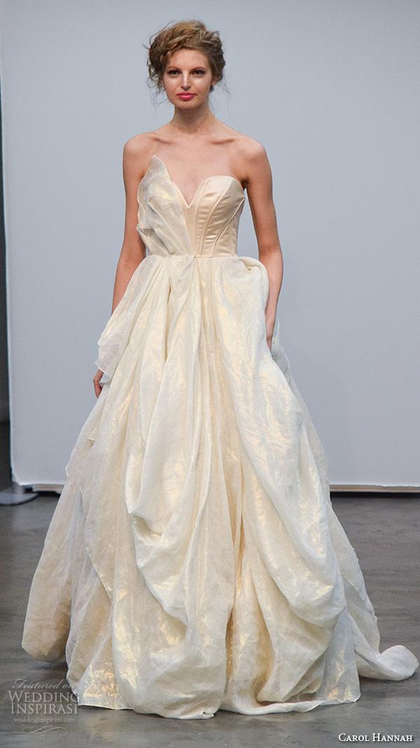 Strapless Champagne Wedding Dress 48 Trend carol hannah new york