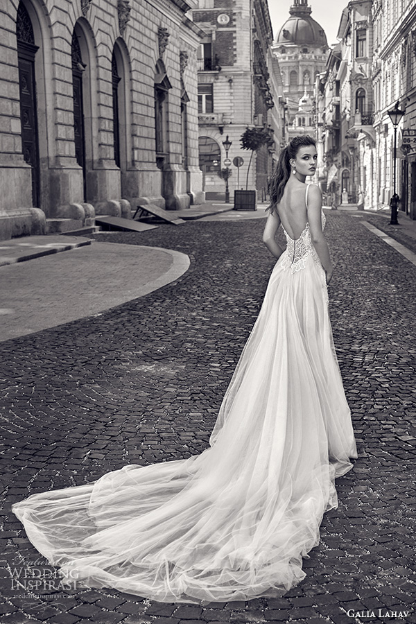galia lahav gala fall 2016 bridal gowns beautiful sheath wedding dress pockets sleeveless low open back satin chapel train style 610