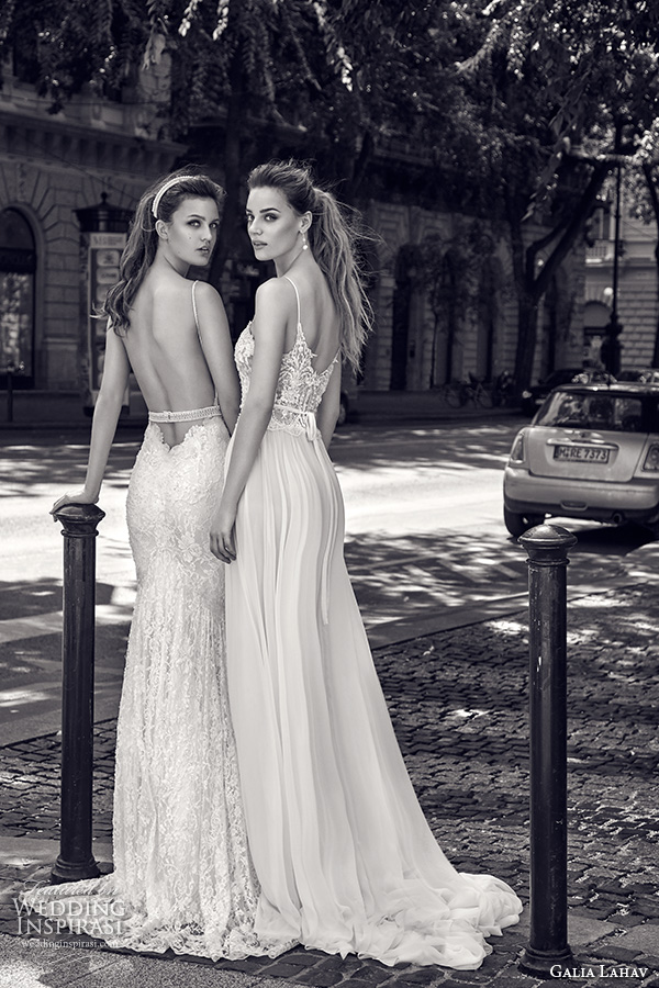 galia lahav gala fall 2016 bridal gowns stunning low cut back sheath wedding dress lace embroidery pretty a  line gown lace bodice flow tulle skirt style 601 n 604