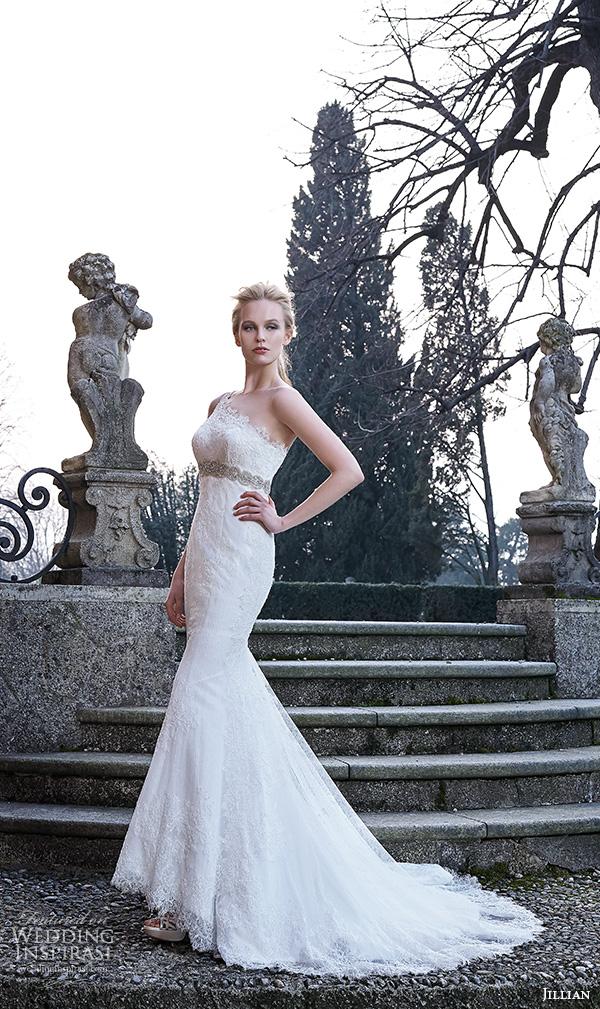 One Shoulder Mermaid Wedding Dress with Belt