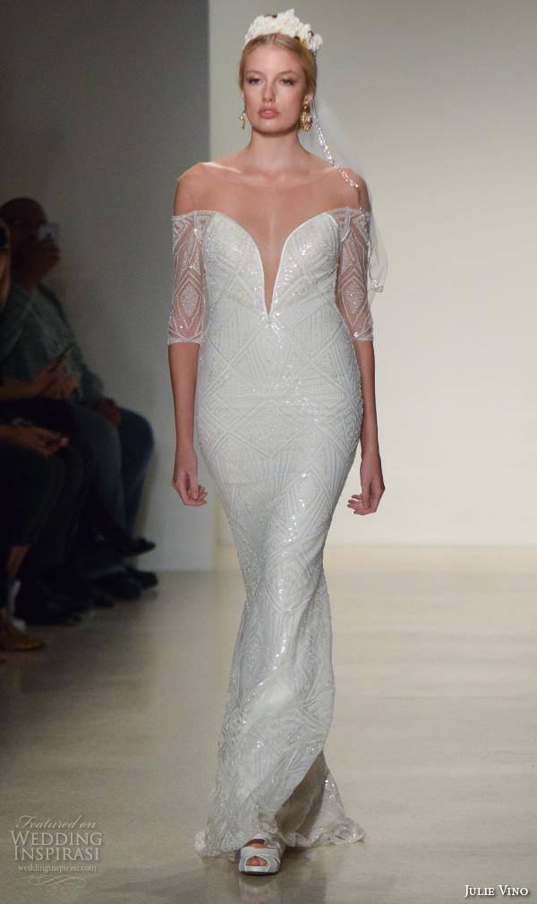 Lace Wedding Dress V Neck 79 Cute julie vino fall bridal