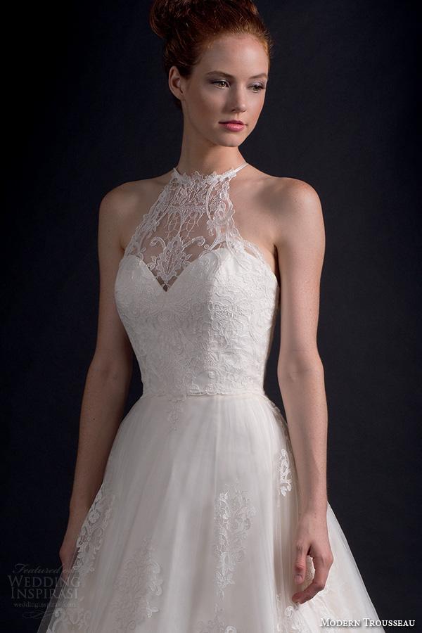 Modern Trousseau Lace Wedding Dress : Modern trousseau fall wedding dresses inspirasi