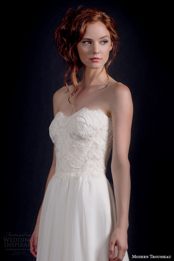 Modern Trousseau Lace Wedding Dress : Modern trousseau fall wedding dresses inspirasi