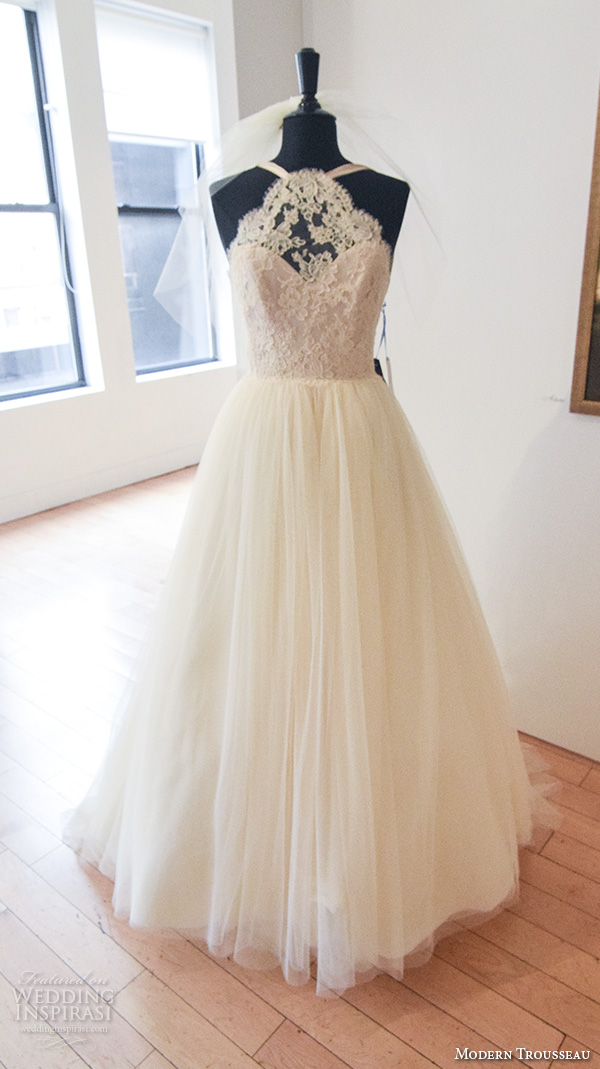 Modern Trousseau Lace Wedding Dress : New york bridal fashion week october part berta