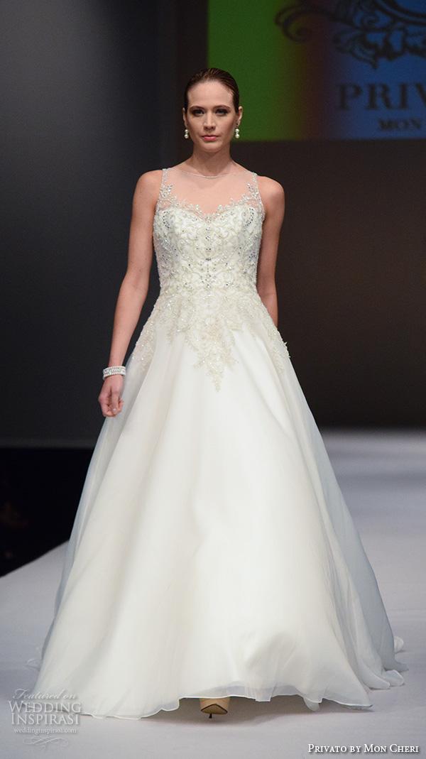 f10f9a29 privato by mon cheri new york bridal fashion week 2015 illlusion neckline  beaded bodice beautiful a
