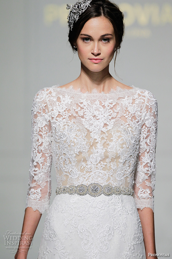 Brocade Wedding Dresses 77 Spectacular pronovias bridal gowns bateau
