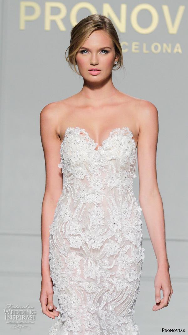 Lace Wedding Dress Strapless 84 Elegant pronovias bridal gowns beautiful