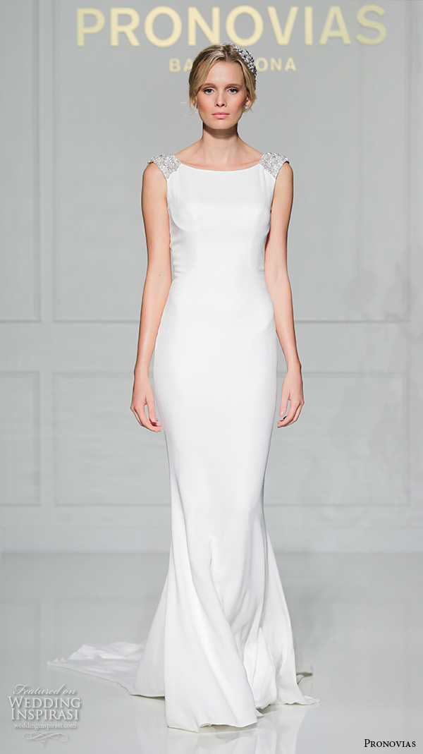 Pronovias 2016 wedding dresses new york bridal runway for Wedding dress neckline styles