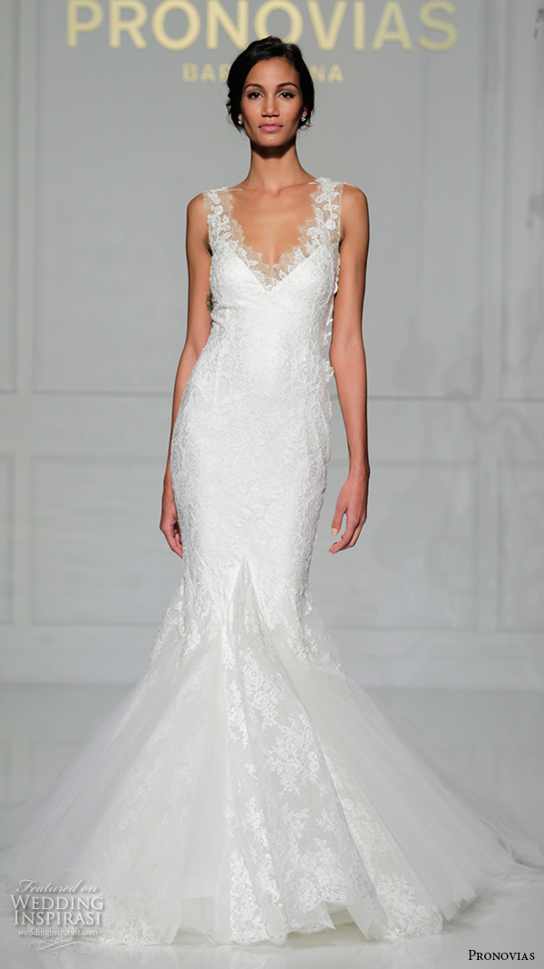 Wedding Dress Gemach New York : Pronovias bridal gowns elegant mermaid wedding dress thick lace