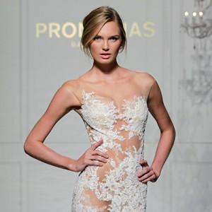pronovias 2016 wedding dress new york bridal week 2015 runway fashion show post thumb