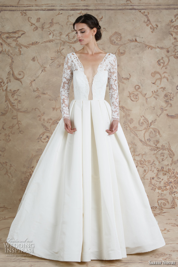 Sareh nouri fall 2016 wedding dresses wedding inspirasi for Wedding dresses for small breasts