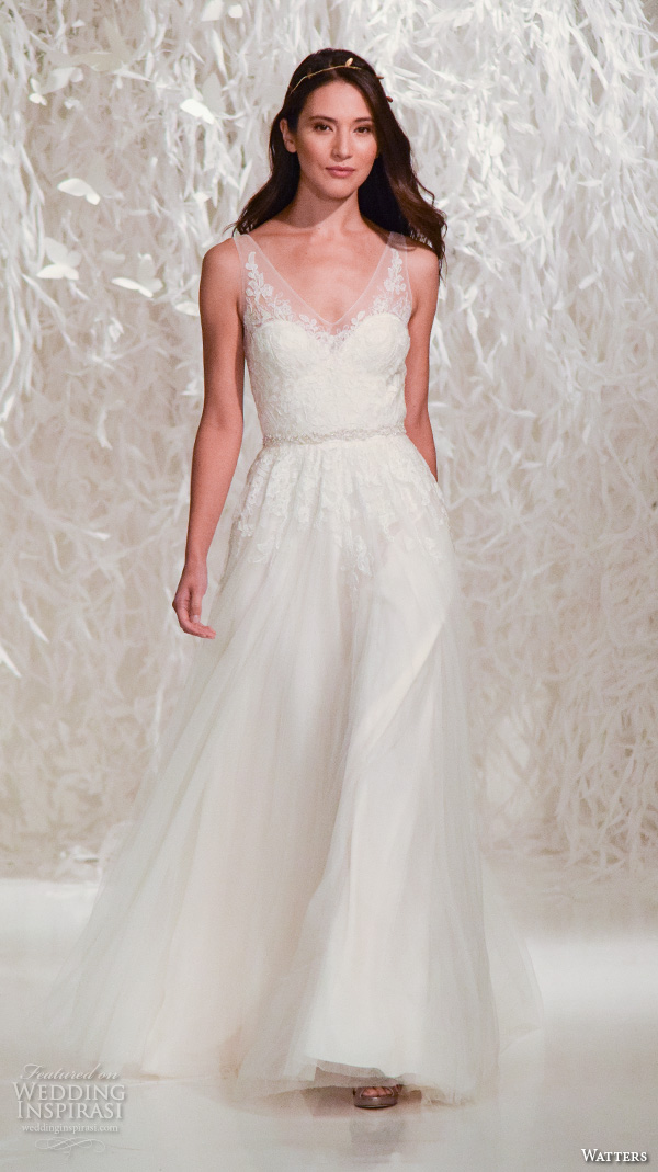 New York Bridal Fashion Week October 2017 Part 5 Watters Boho Wedding Dress