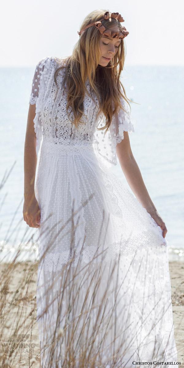 Bohemian Lace Wedding Dresses 26 Luxury christos costarellos bridal spring