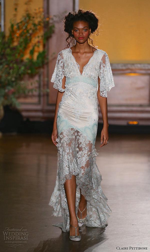 Butterfly Sleeve Wedding Dress 64 Simple claire pettibone fall bridal