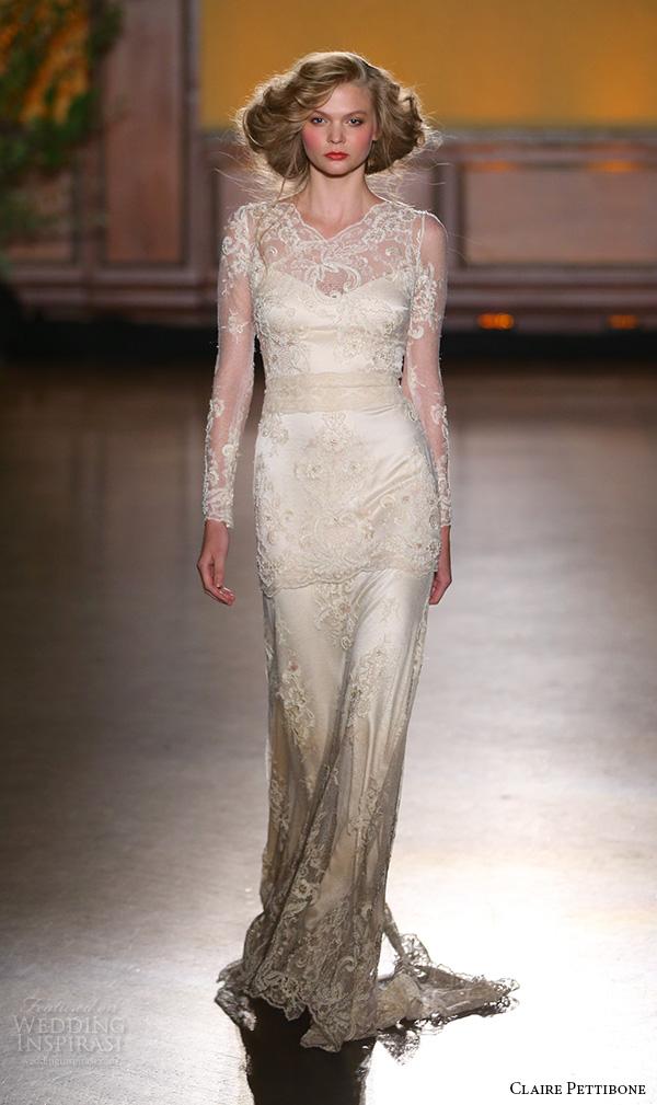 Rose Gold Wedding Dress 18 Great claire pettibone fall bridal