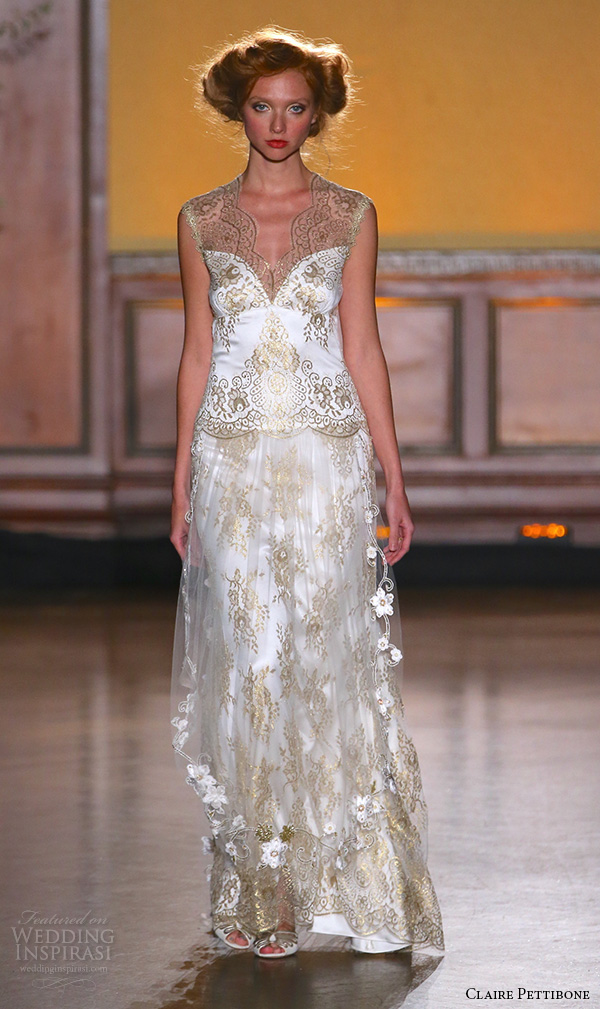 Claire pettibone fall 2016 wedding dresses the gilded for How to become a wedding dress model