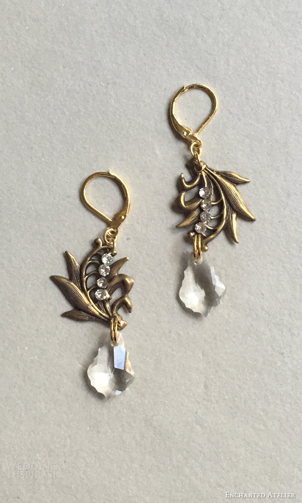 enchanted atelier by liv hart fall 2016 wedding accessories lily of the valley earrings