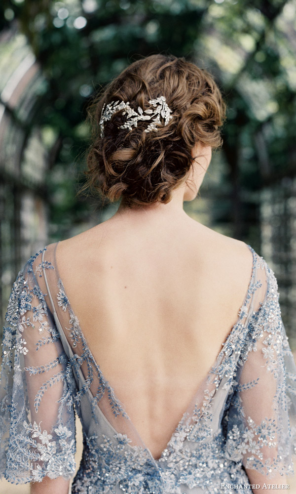 enchanted atelier liv hart fall 2016 bridal accessories annabelle vine hair comb photo wedding dress