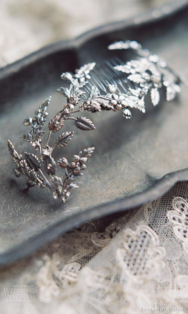 enchanted atelier liv hart fall 2016 bridal accessories annabelle vine hair comb