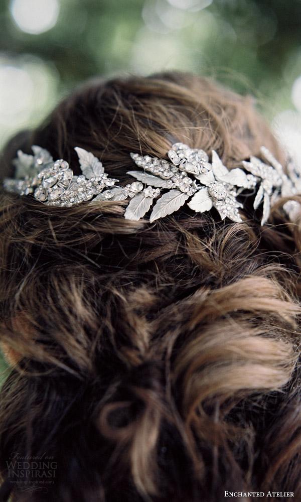 enchanted atelier liv hart fall 2016 bridal accessories annalise vine photo wedding hair close up