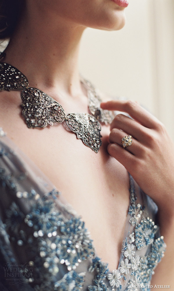enchanted atelier liv hart fall 2016 bridal accessories giverny necklace