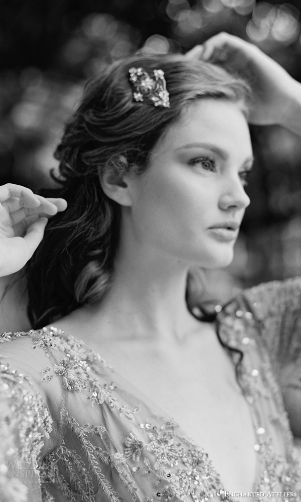 enchanted atelier liv hart fall 2016 bridal hair accessories evangeline comb photo
