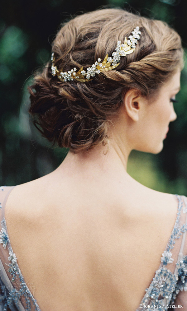 enchanted atelier liv hart fall 2016 bridal hair accessories lily of the valley vine wedding updo accessory