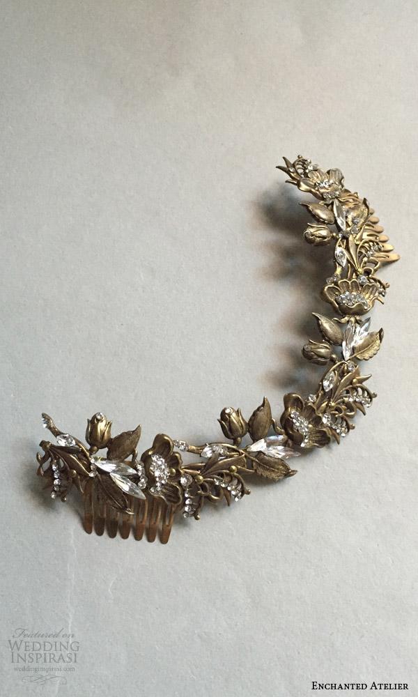 enchanted atelier liv hart fall 2016 bridal hair accessories rose garden laurel wedding accessory