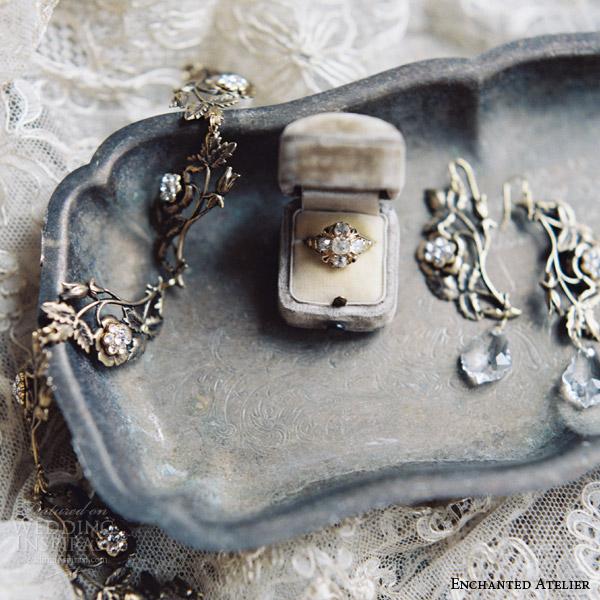 enchanted atelier liv hart fall 2016 bridal hair accessories trumpet horn vintage ring wedding
