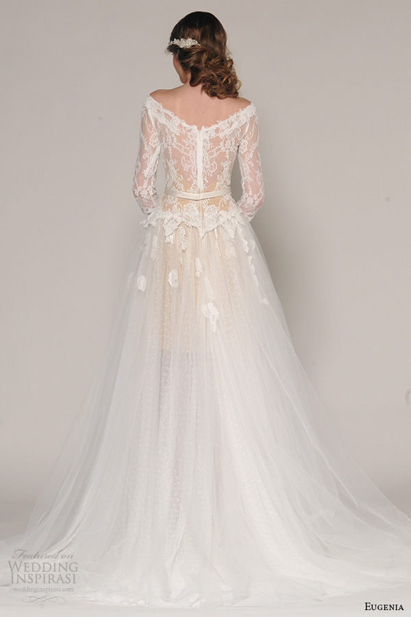 Eugenia couture fall 2016 wedding dresses wedding inspirasi for 3 4 sleeve ball gown wedding dress