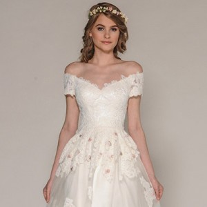 eugenia couture fall 2016 bridal collection sasha off shoulder lace wedding dress 400