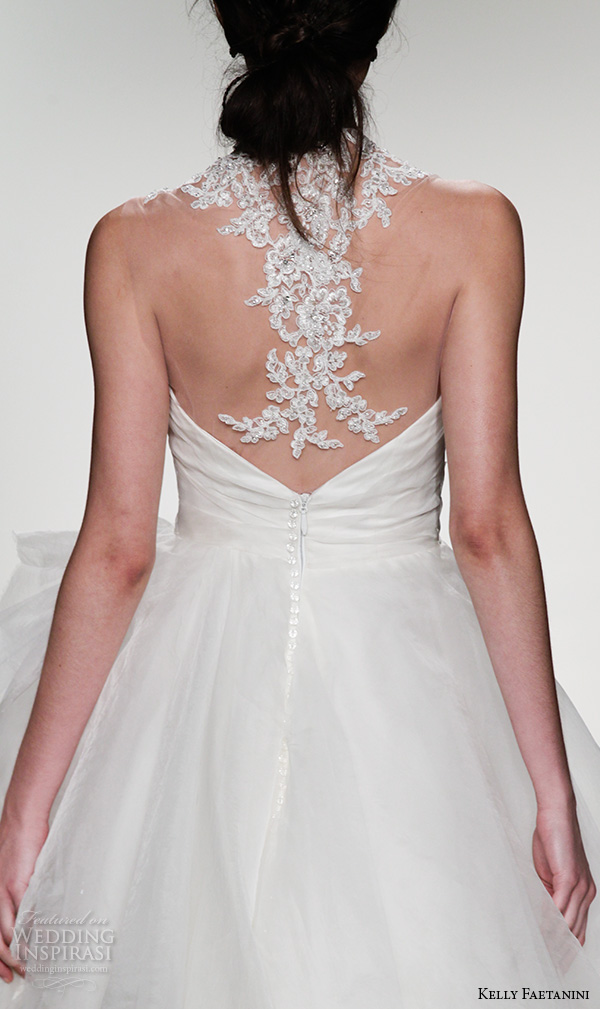 kelly faetanini fall 2016 bridal new york runway sleeveless sweetheart wrap bodice organza pleated wedding ball gown dress style jadis