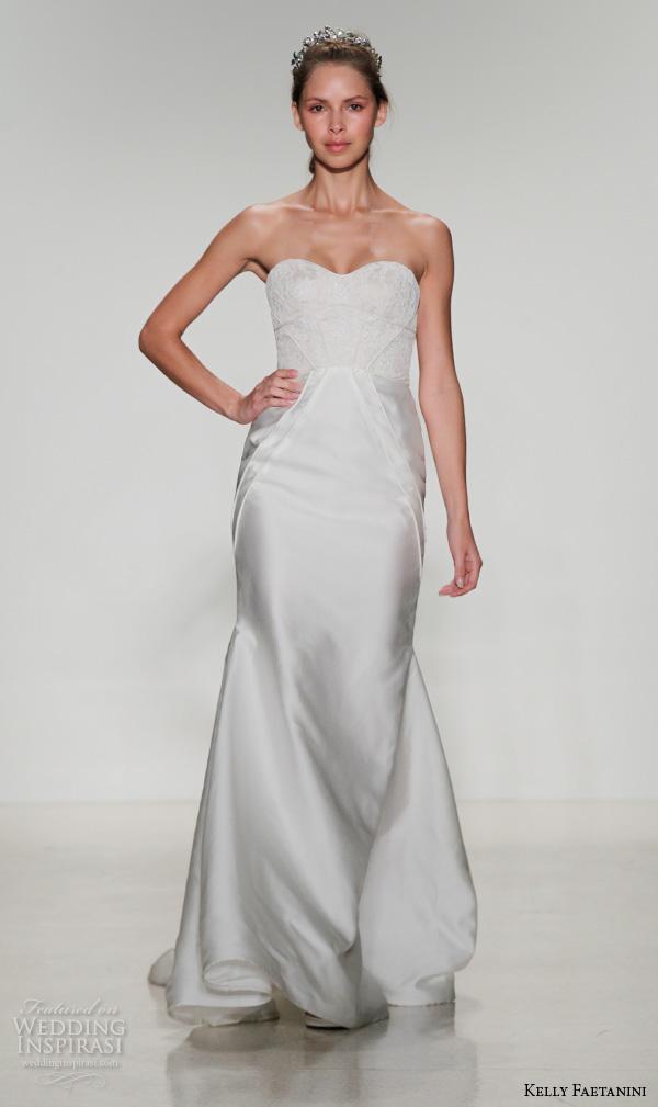 kelly faetanini fall 2016 bridal new york runway strapless sweetheart neckline corset bodice fit to flare wedding dress style bree